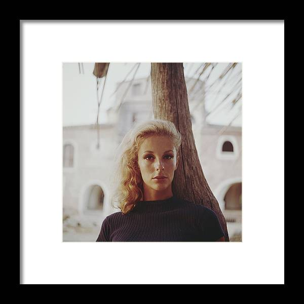Costa Smeralda Framed Print featuring the photograph Dolores Guinness by Slim Aarons