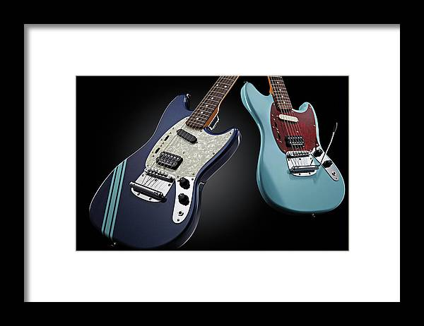Music Framed Print featuring the photograph Fender Kurt Cobain Mustang Electric by Total Guitar Magazine