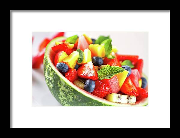 Breakfast Framed Print featuring the photograph Fruit Salad by Svariophoto