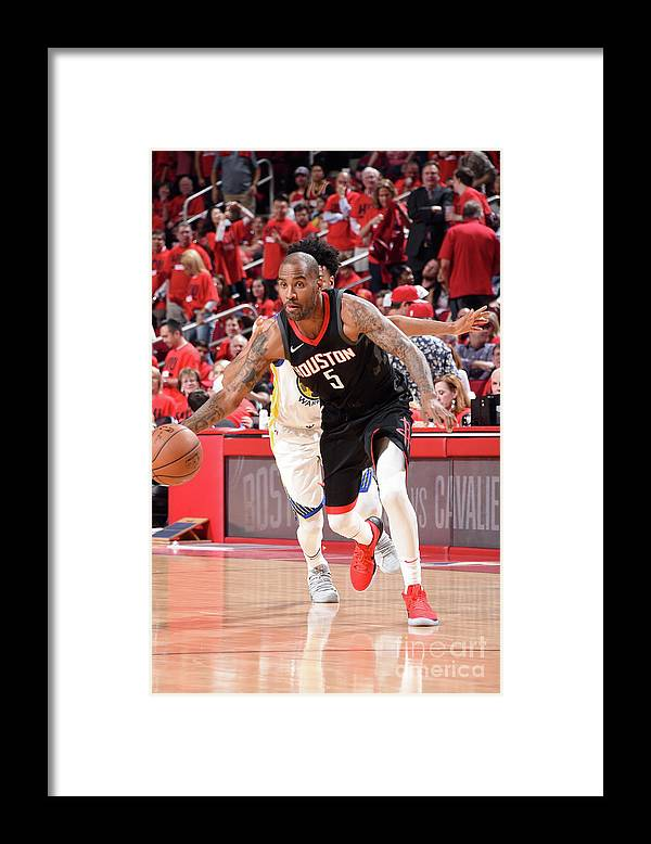 Playoffs Framed Print featuring the photograph Golden State Warriors V Houston Rockets by Andrew D. Bernstein