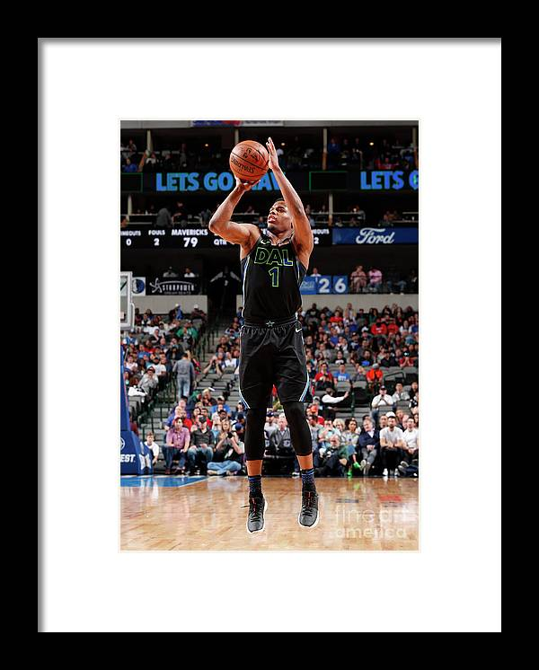 Nba Pro Basketball Framed Print featuring the photograph Houston Rockets V Dallas Mavericks by Danny Bollinger