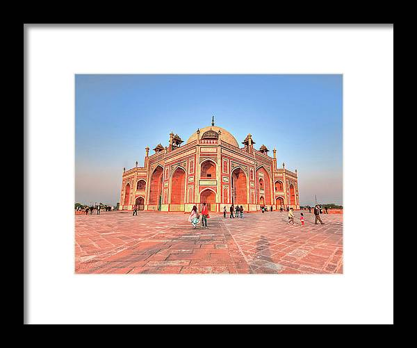Arch Framed Print featuring the photograph Humayuns Tomb, New Delhi by Mukul Banerjee Photography
