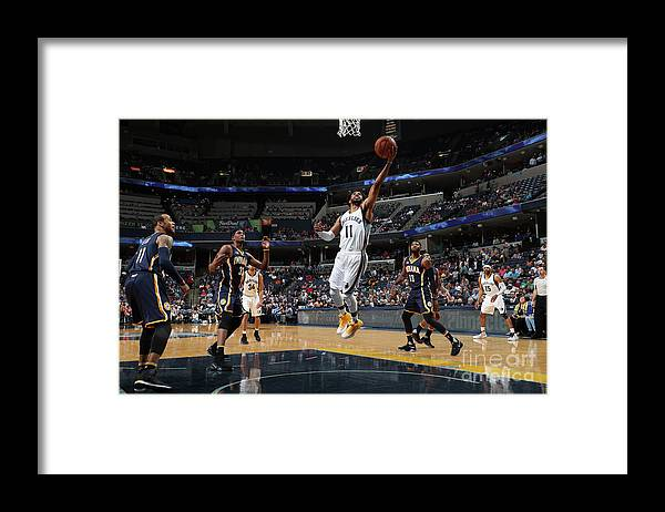 Nba Pro Basketball Framed Print featuring the photograph Indiana Pacers V Memphis Grizzlies by Joe Murphy