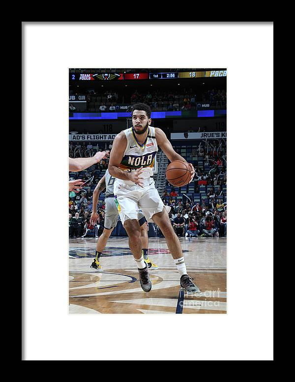 Smoothie King Center Framed Print featuring the photograph Indiana Pacers V New Orleans Pelicans by Layne Murdoch Jr.