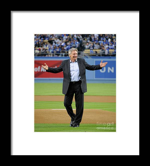 Human Arm Framed Print featuring the photograph Jackie Robinson Celebration At The Los 2 by Noel Vasquez
