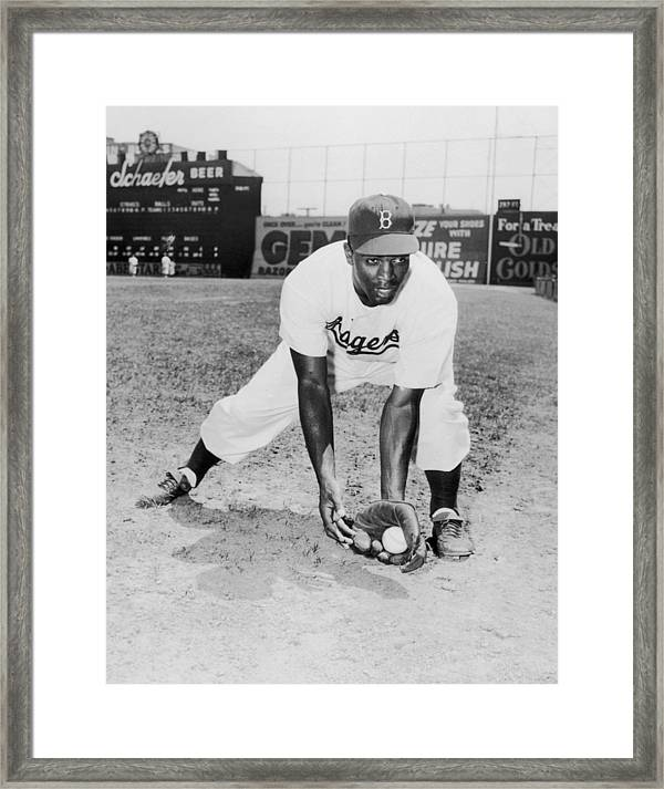Framed Size: 12.5 x 15.5 MLB Babe Ruth Brooklyn Dodgers Photo