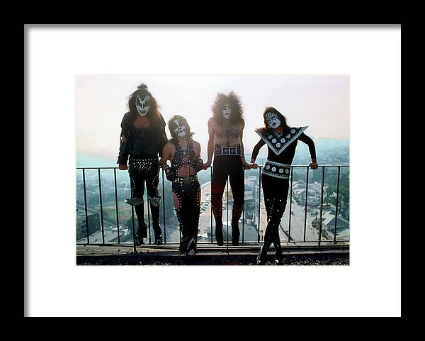Rock Music Framed Print featuring the photograph Kiss Portrait Session In La by Michael Ochs Archives