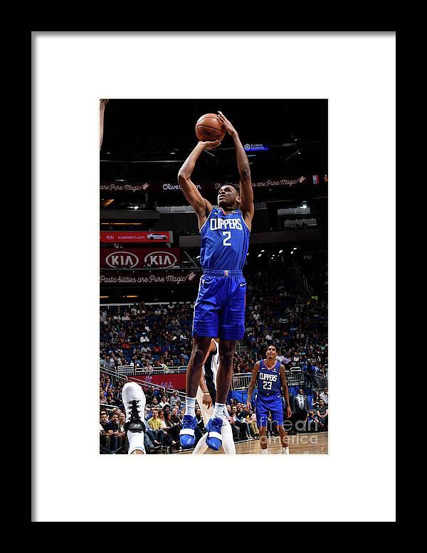 Nba Pro Basketball Framed Print featuring the photograph La Clippers V Orlando Magic by Fernando Medina