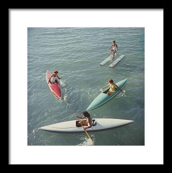 Pedal Boat Framed Print featuring the photograph Lake Tahoe Trip by Slim Aarons