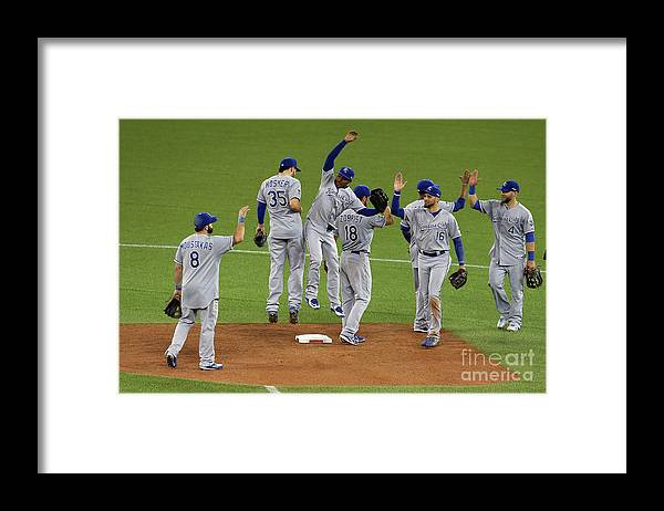 American League Baseball Framed Print featuring the photograph League Championship - Kansas City by Vaughn Ridley