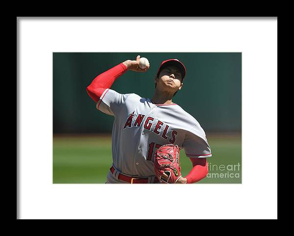 Second Inning Framed Print featuring the photograph Los Angeles Angels Of Anaheim V by Thearon W. Henderson