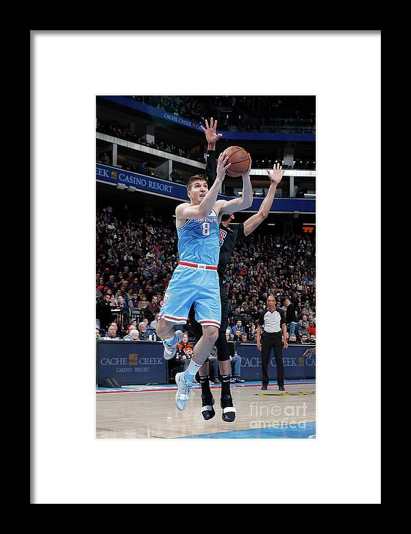 Nba Pro Basketball Framed Print featuring the photograph Los Angeles Clippers V Sacramento Kings by Rocky Widner