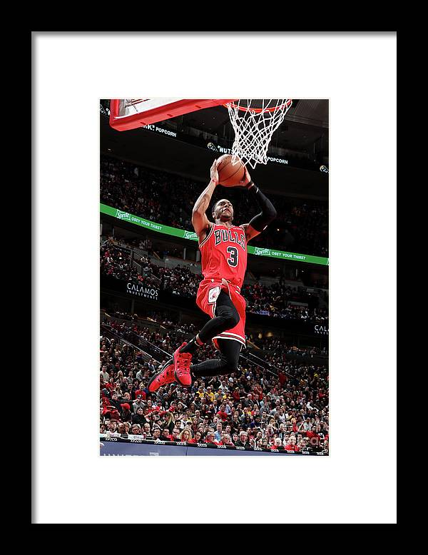 Nba Pro Basketball Framed Print featuring the photograph Los Angeles Lakers V Chicago Bulls by Nathaniel S. Butler