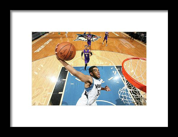 Nba Pro Basketball Framed Print featuring the photograph Los Angeles Lakers V Minnesota by David Sherman