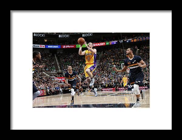 Nba Pro Basketball Framed Print featuring the photograph Los Angeles Lakers V Utah Jazz by Melissa Majchrzak
