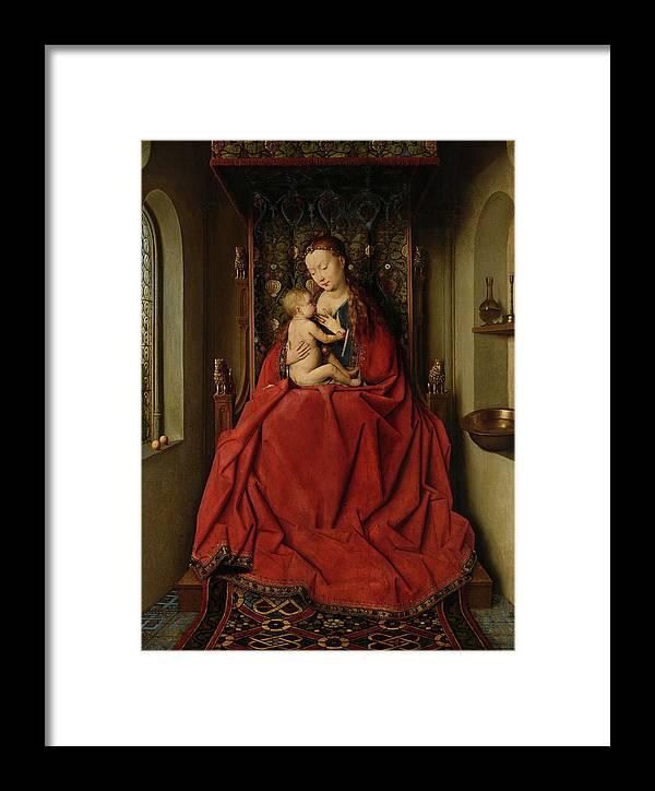 Jan Van Eyck Framed Print featuring the painting Lucca Madonna by Jan van Eyck