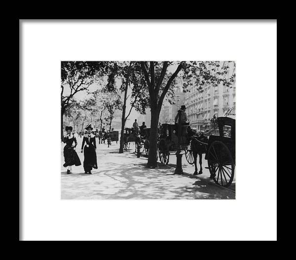 People Framed Print featuring the photograph Madison Square Park by Fpg