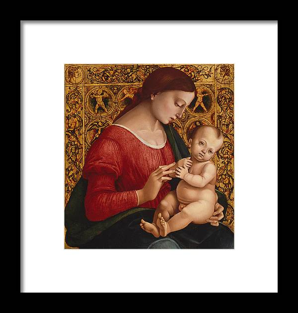 16th Century Art Framed Print featuring the painting Madonna And Child by Luca Signorelli