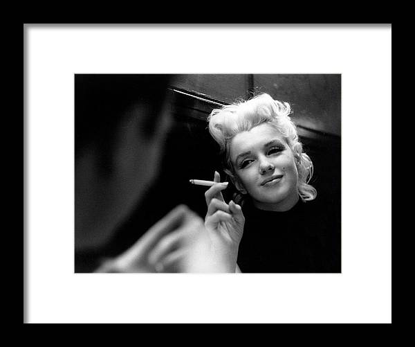 1950-1959 Framed Print featuring the photograph Marilyn Candid Moment by Michael Ochs Archives