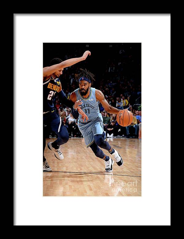 Nba Pro Basketball Framed Print featuring the photograph Memphis Grizzlies V Denver Nuggets by Bart Young
