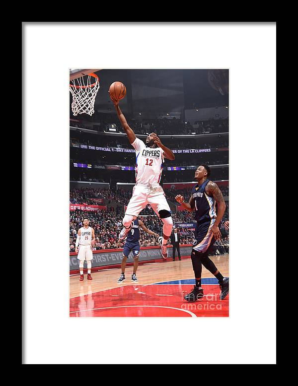 Nba Pro Basketball Framed Print featuring the photograph Memphis Grizzlies V Los Angeles Clippers by Andrew D. Bernstein