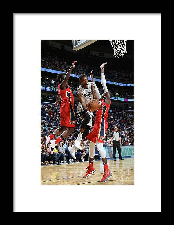 Smoothie King Center Framed Print featuring the photograph Memphis Grizzlies V New Orleans Pelicans by Layne Murdoch Jr.