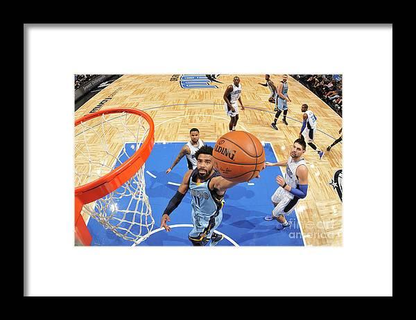 Nba Pro Basketball Framed Print featuring the photograph Memphis Grizzlies V Orlando Magic by Fernando Medina