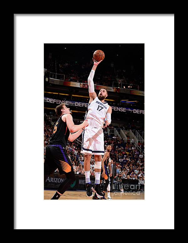 Nba Pro Basketball Framed Print featuring the photograph Memphis Grizzlies V Phoenix Suns by Barry Gossage