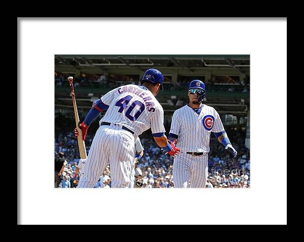 Following Framed Print featuring the photograph Milwaukee Brewers V Chicago Cubs 2 by Nuccio Dinuzzo