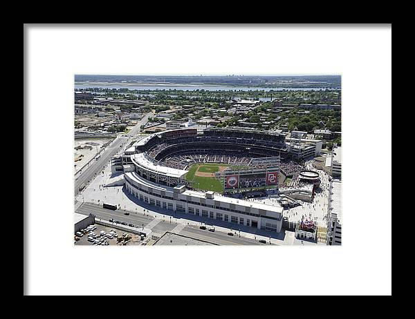 National League Baseball Framed Print featuring the photograph Milwaukee Brewers V Washington Nationals by G Fiume