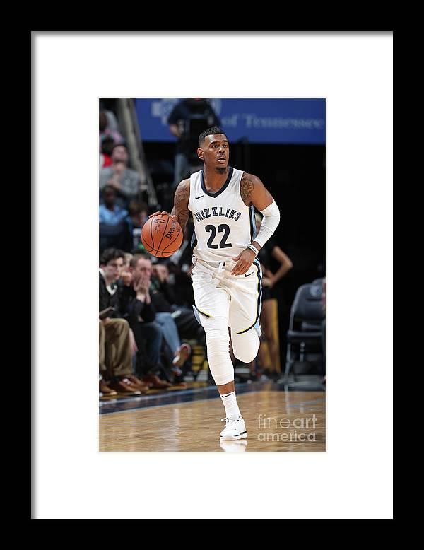 Nba Pro Basketball Framed Print featuring the photograph Milwaukee Bucks V Memphis Grizzlies by Joe Murphy