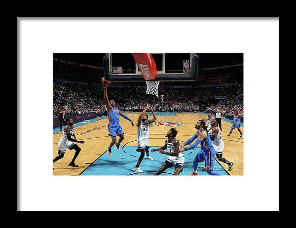 Nba Pro Basketball Framed Print featuring the photograph Minnesota Timberwolves V Oklahoma City by Zach Beeker