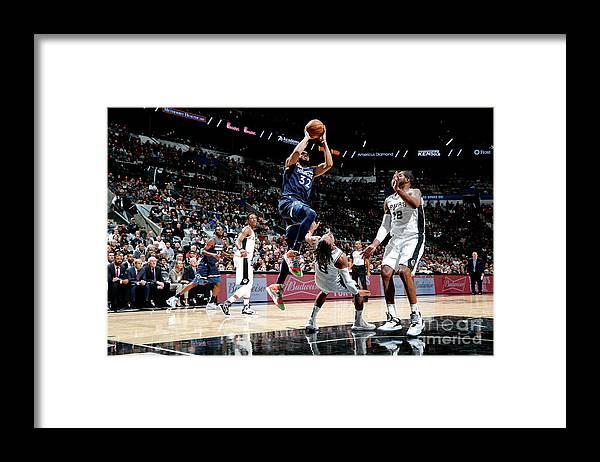 Nba Pro Basketball Framed Print featuring the photograph Minnesota Timberwolves V San Antonio by Chris Covatta