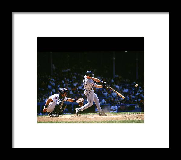 American League Baseball Framed Print featuring the photograph Mlb Photos Archive 2 by John Reid Iii