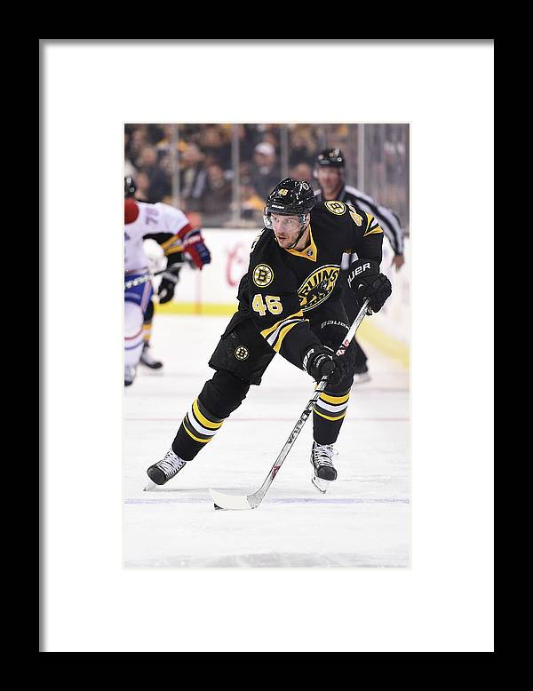National Hockey League Framed Print featuring the photograph Montreal Canadiens V Boston Bruins by Brian Babineau