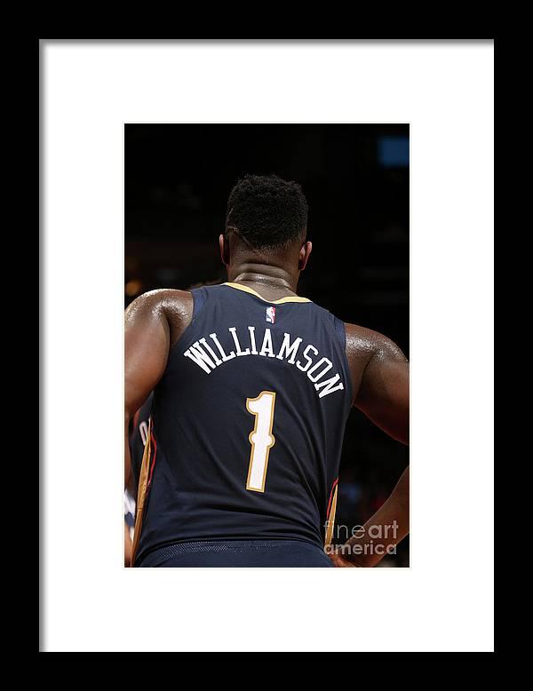 Atlanta Framed Print featuring the photograph New Orleans Pelicans V Atlanta Hawks by Layne Murdoch Jr.