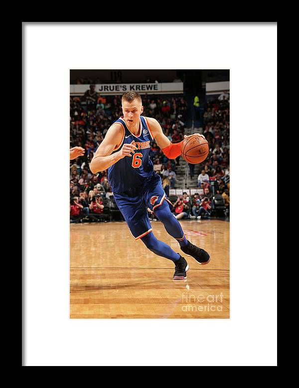 Smoothie King Center Framed Print featuring the photograph New York Knicks V New Orleans Pelicans by Layne Murdoch