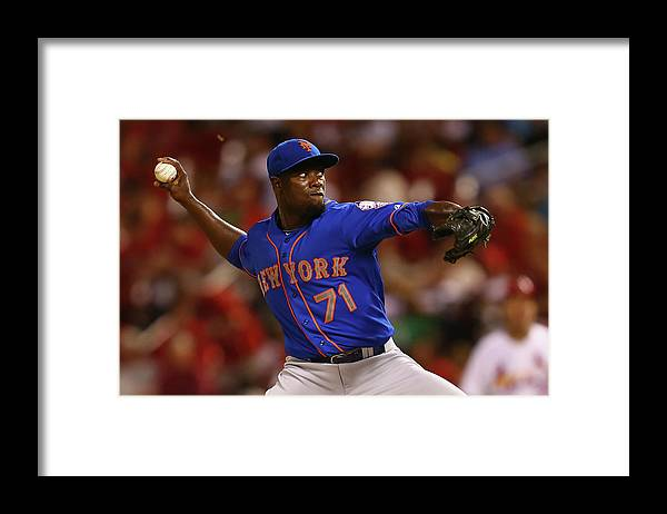 Relief Pitcher Framed Print featuring the photograph New York Mets V St. Louis Cardinals by Dilip Vishwanat