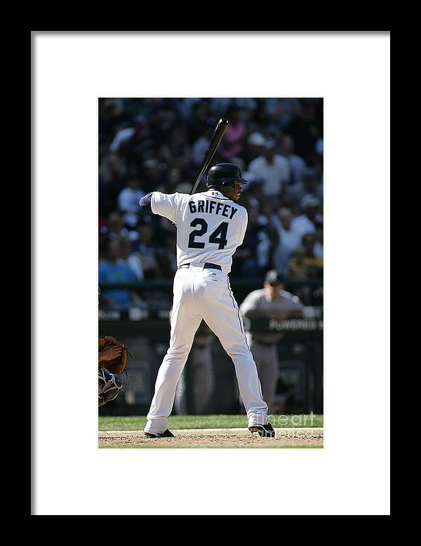 People Framed Print featuring the photograph New York Yankees V Seattle Mariners by Rob Leiter