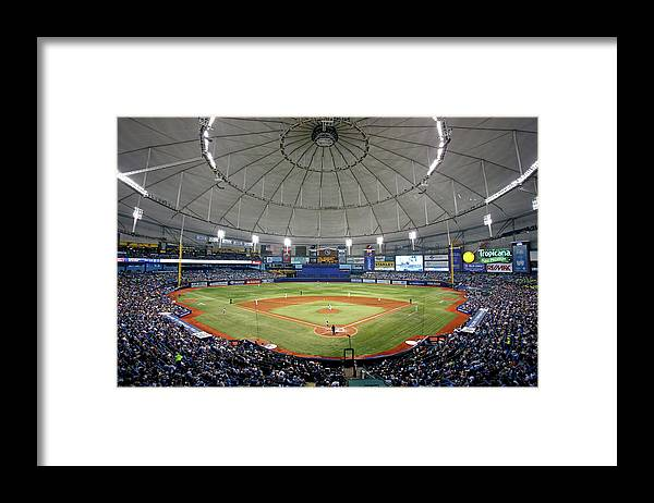 American League Baseball Framed Print featuring the photograph New York Yankees V Tampa Bay Rays by Brian Blanco