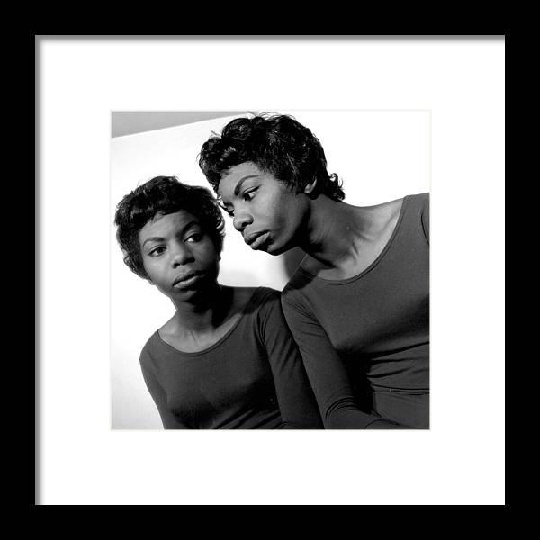 Nina Simone Framed Print featuring the photograph Nina Simone by Herb Snitzer