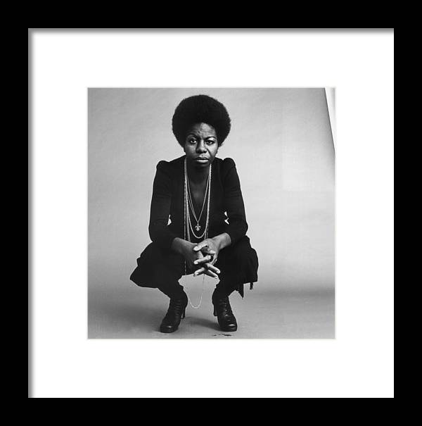Singer Framed Print featuring the photograph Nina Simone by Jack Robinson