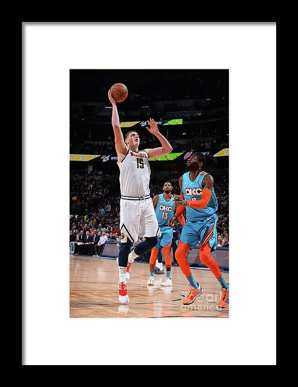 Nba Pro Basketball Framed Print featuring the photograph Oklahoma City Thunder V Denver Nuggets by Bart Young