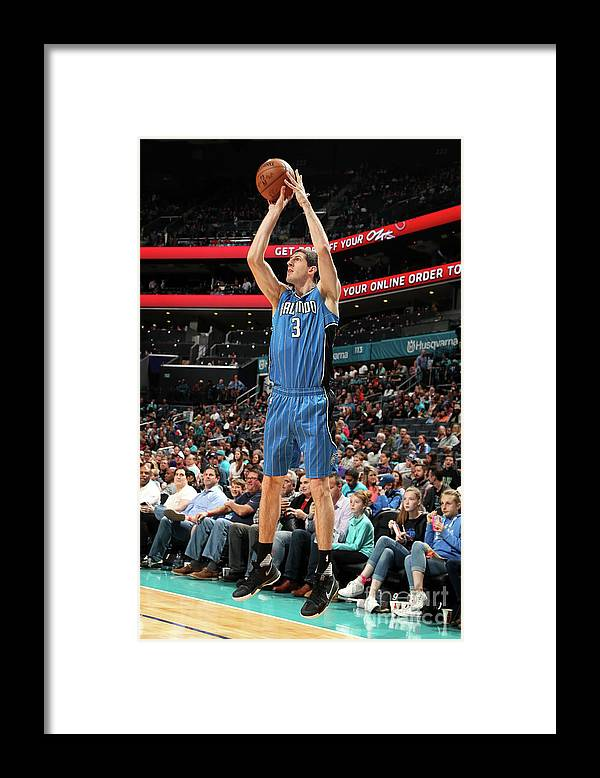 Nba Pro Basketball Framed Print featuring the photograph Orlando Magic V Charlotte Hornets by Kent Smith