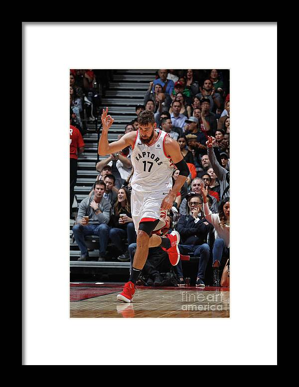 Nba Pro Basketball Framed Print featuring the photograph Philadelphia 76ers V Toronto Raptors by Mark Blinch