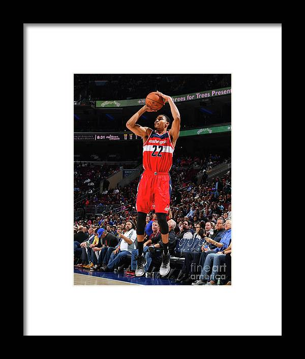 Nba Pro Basketball Framed Print featuring the photograph Philadelphia 76ers V Washington Wizards by Jesse D. Garrabrant