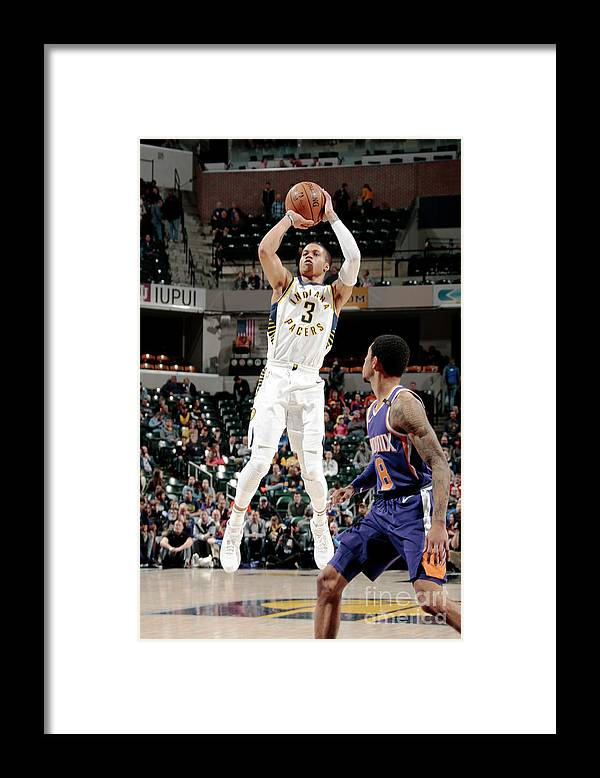 Nba Pro Basketball Framed Print featuring the photograph Phoenix Suns V Indiana Pacers by Ron Hoskins