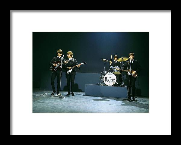 People Framed Print featuring the photograph Photo Of Beatles by David Redfern