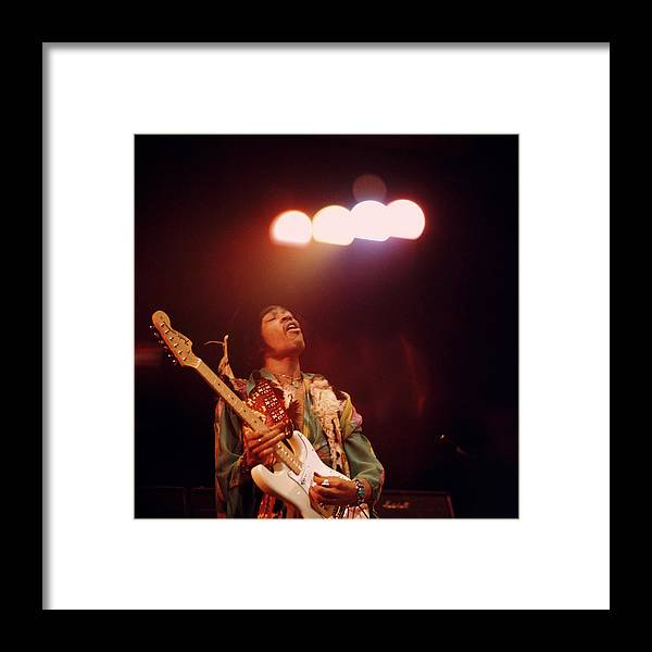 Music Framed Print featuring the photograph Photo Of Jimi Hendrix by David Redfern