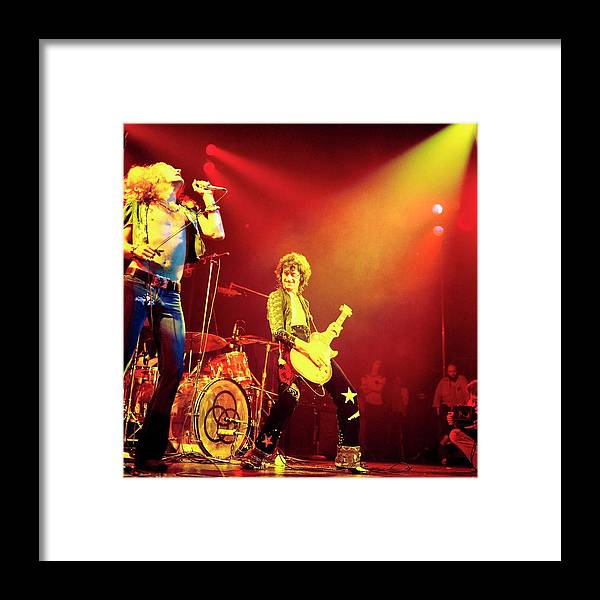 Led Zeppelin Framed Print featuring the photograph Photo Of Jimmy Page And Led Zeppelin by David Redfern